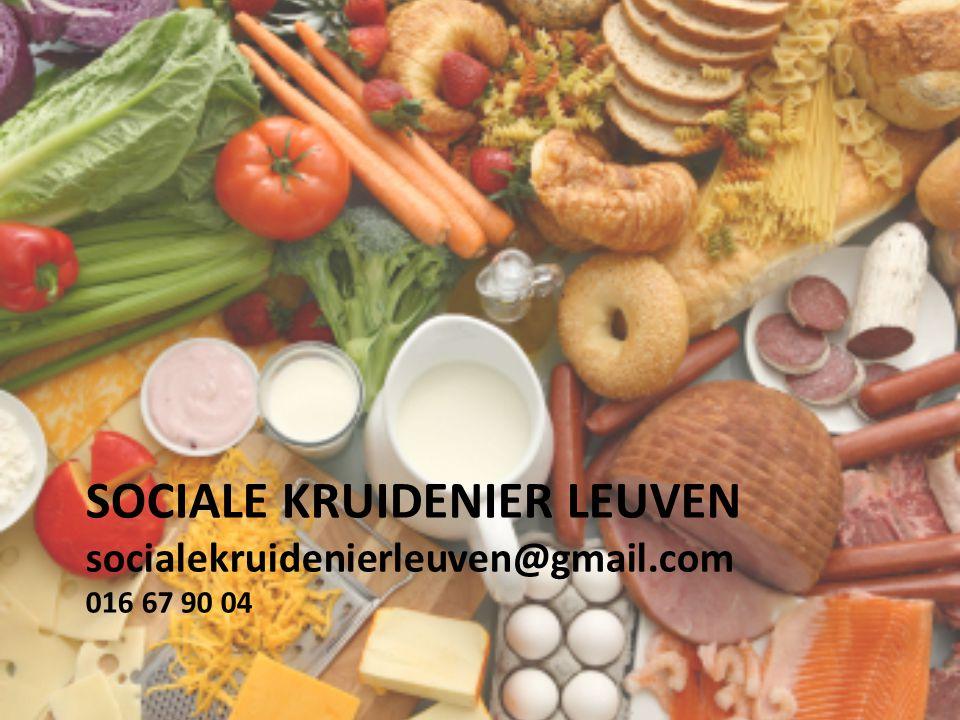 Sociale kruidenier Leuven socialekruidenierleuven@gmail