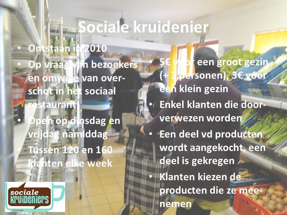 Sociale kruidenier Ontstaan in 2010