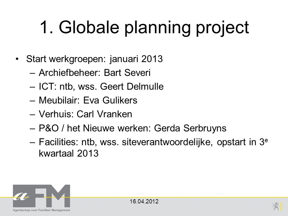 1. Globale planning project
