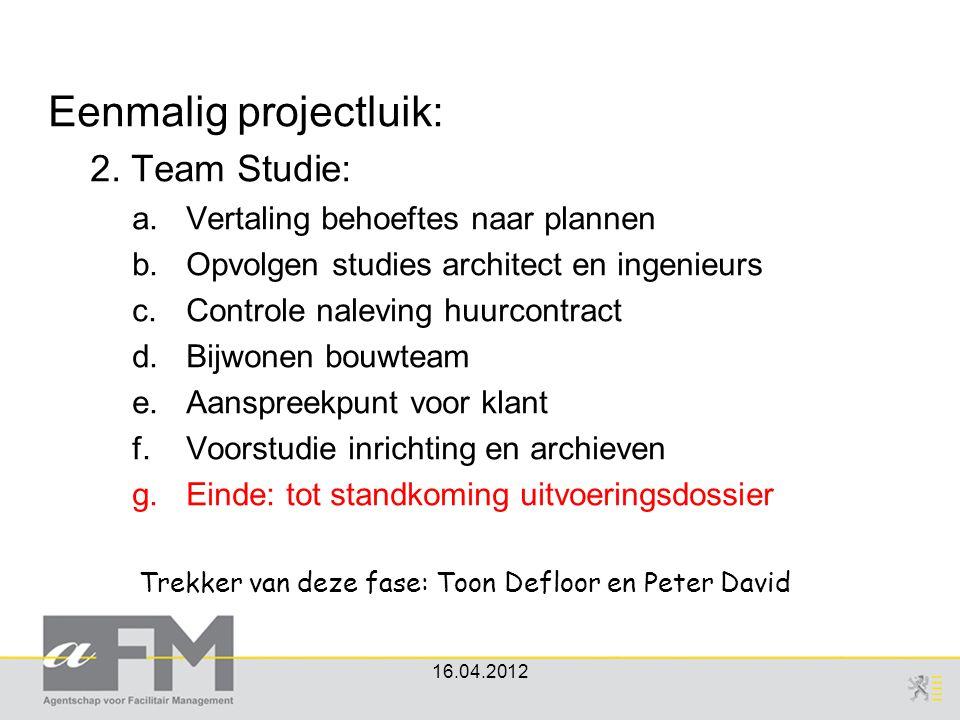 Trekker van deze fase: Toon Defloor en Peter David