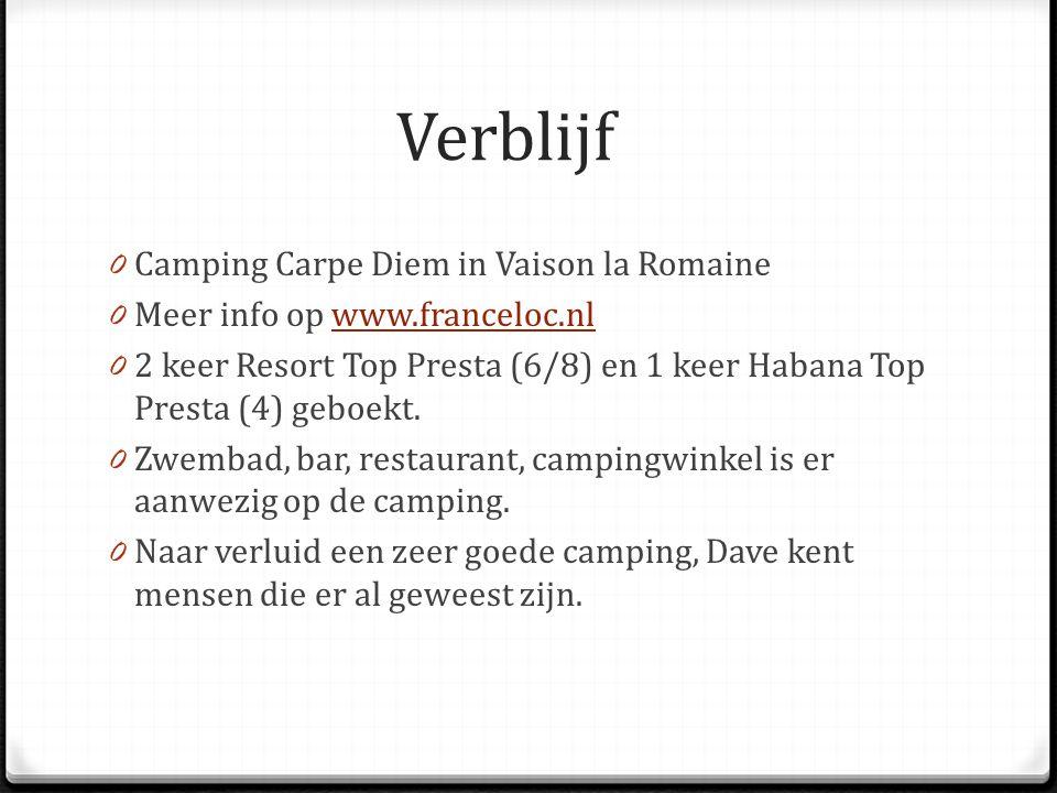 Verblijf Camping Carpe Diem in Vaison la Romaine
