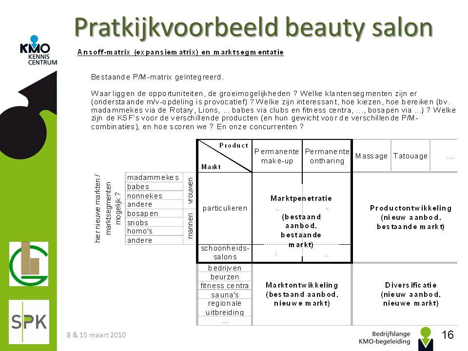 Pratkijkvoorbeeld beauty salon