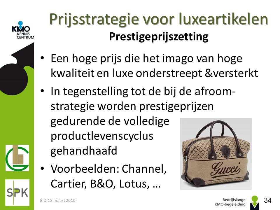 Prijsstrategie voor luxeartikelen Prestigeprijszetting