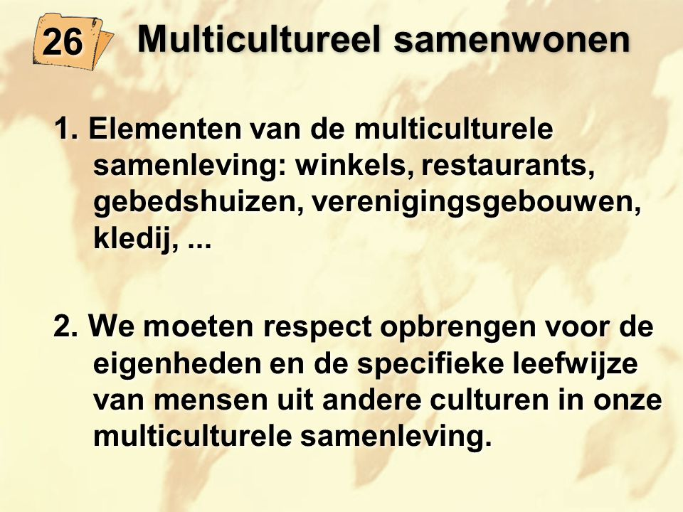 Multicultureel samenwonen