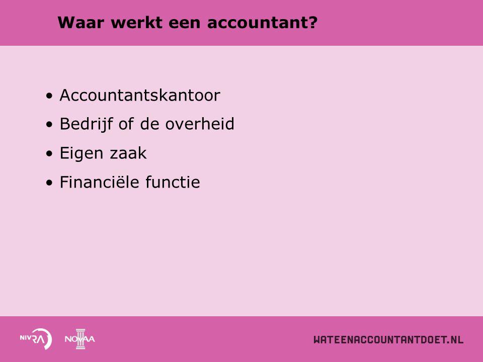 Waar werkt een accountant