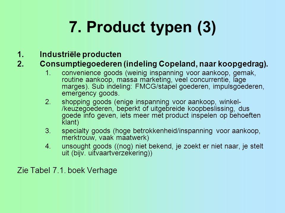 7. Product typen (3) Industriële producten