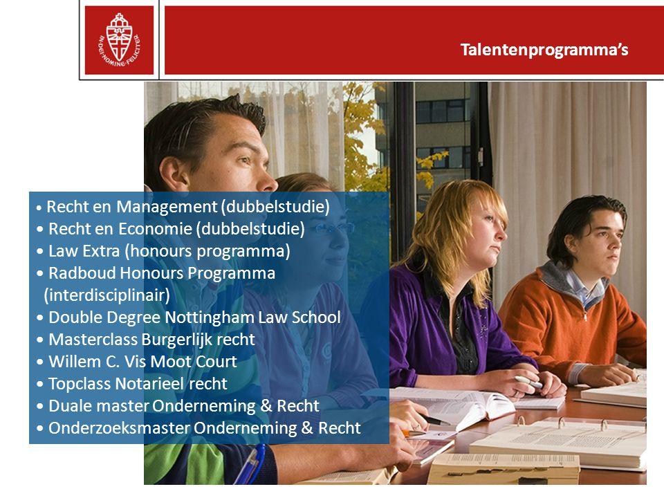 Recht en Economie (dubbelstudie) Law Extra (honours programma)