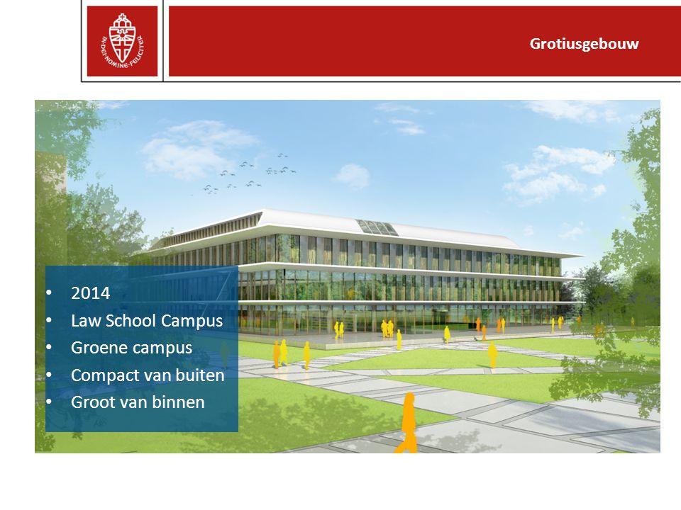 2014 Law School Campus Groene campus Compact van buiten