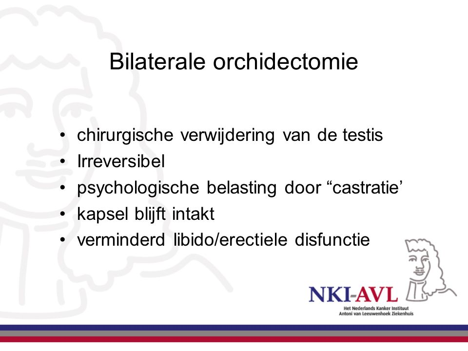 Bilaterale orchidectomie