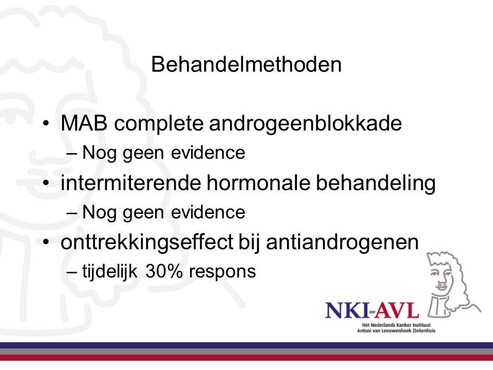 MAB complete androgeenblokkade intermiterende hormonale behandeling