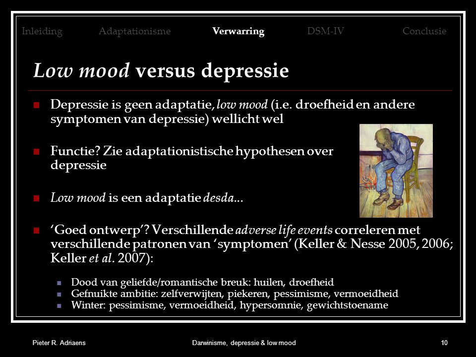 Low mood versus depressie