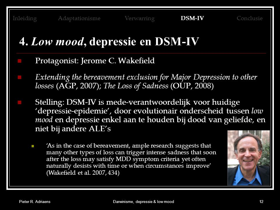 4. Low mood, depressie en DSM-IV