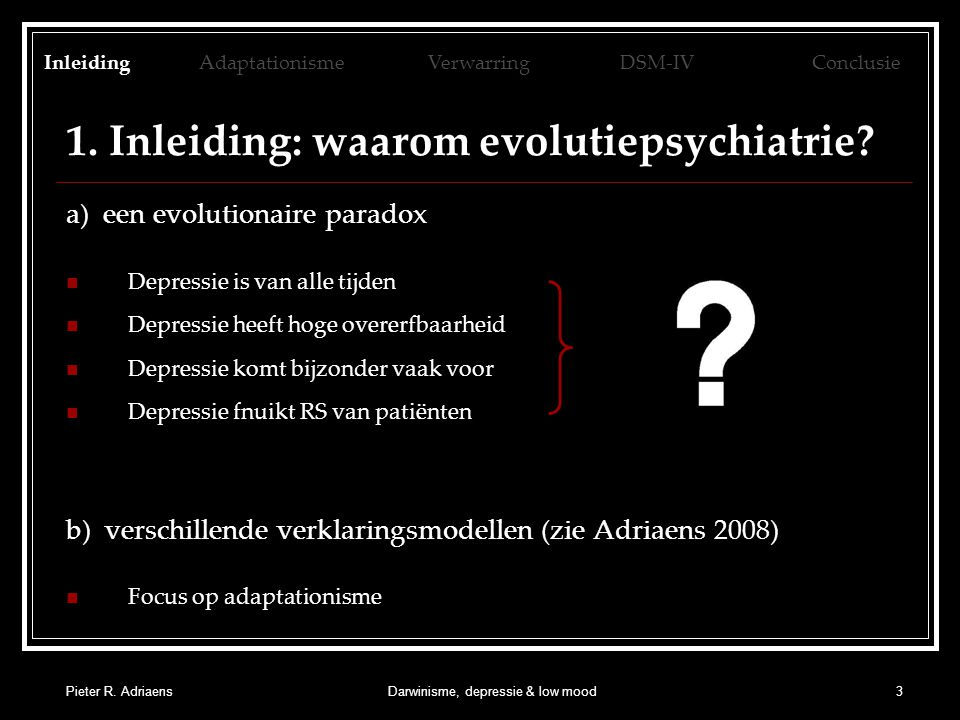 1. Inleiding: waarom evolutiepsychiatrie