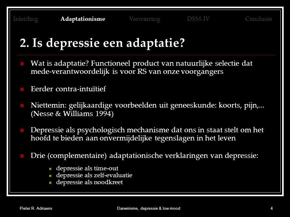 2. Is depressie een adaptatie
