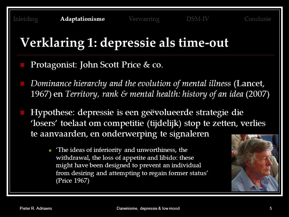 Verklaring 1: depressie als time-out