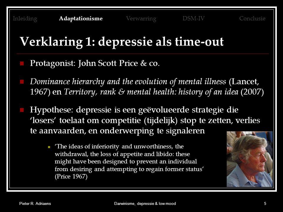Verklaring 1: depressie als time-out