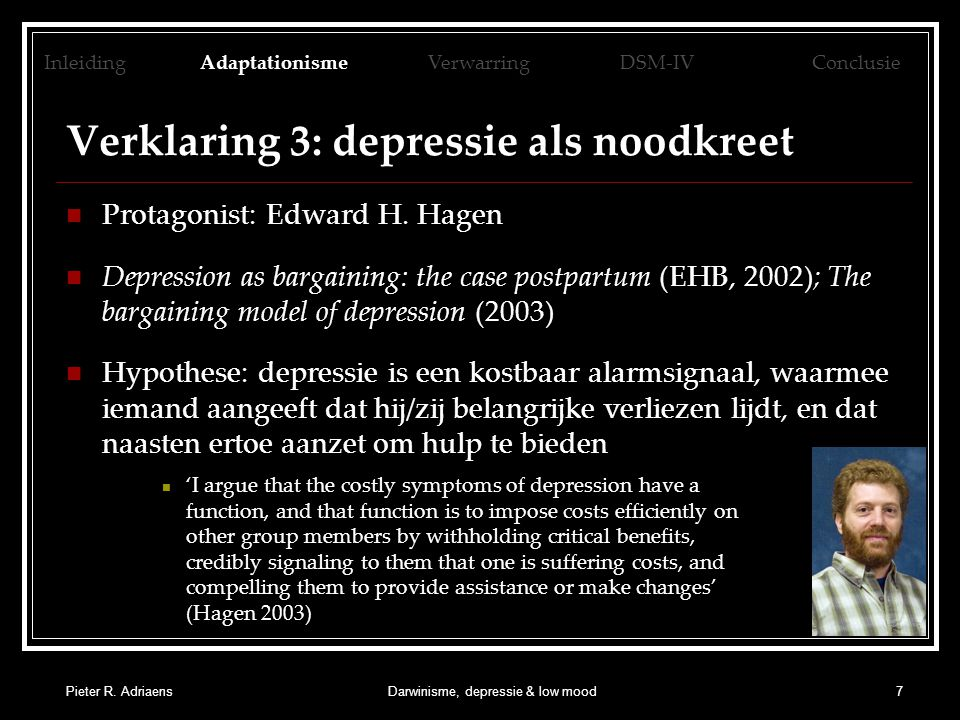 Verklaring 3: depressie als noodkreet