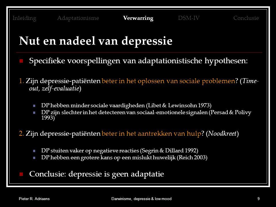 Nut en nadeel van depressie