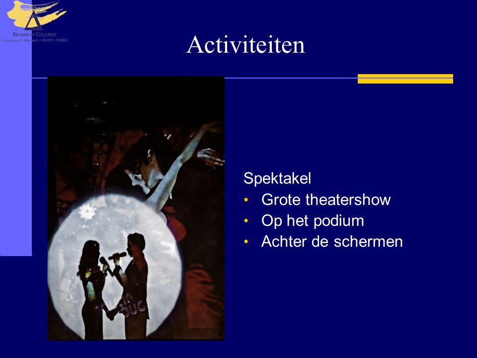 Activiteiten Spektakel Grote theatershow Op het podium