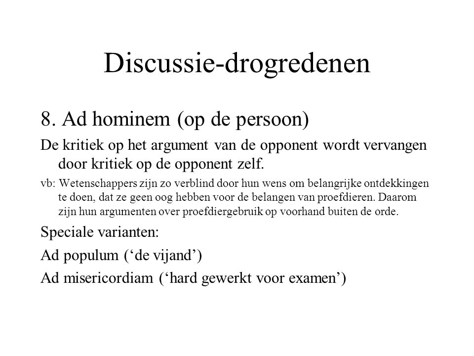 Discussie-drogredenen