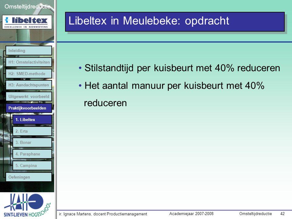 Libeltex in Meulebeke: opdracht