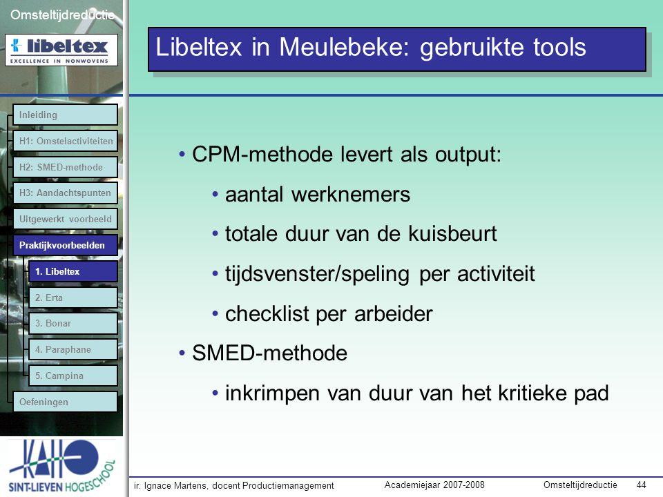 Libeltex in Meulebeke: gebruikte tools