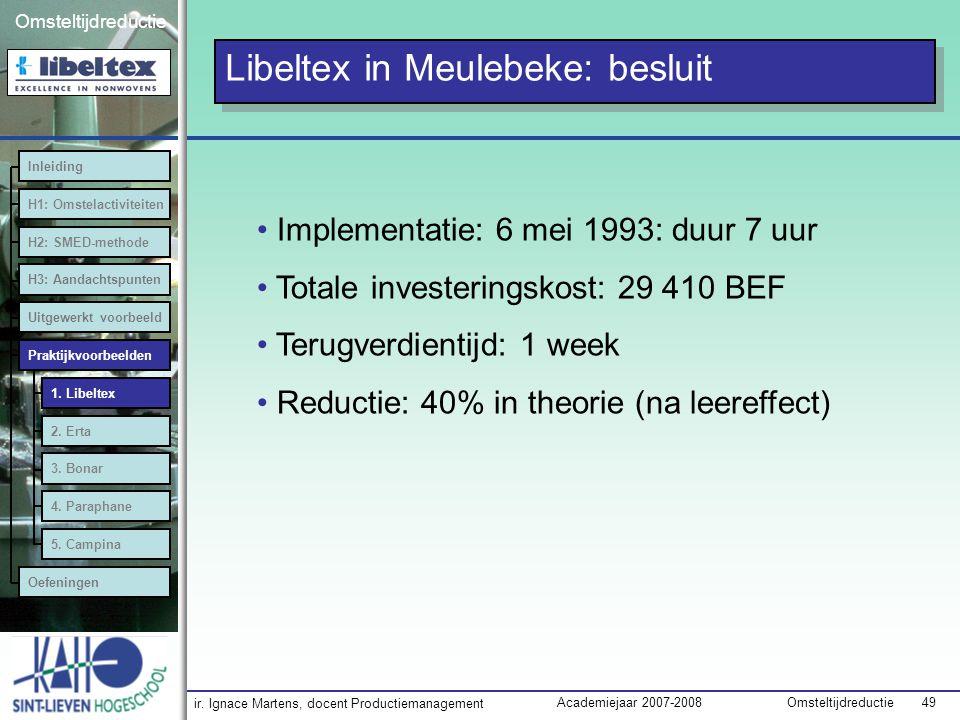 Libeltex in Meulebeke: besluit