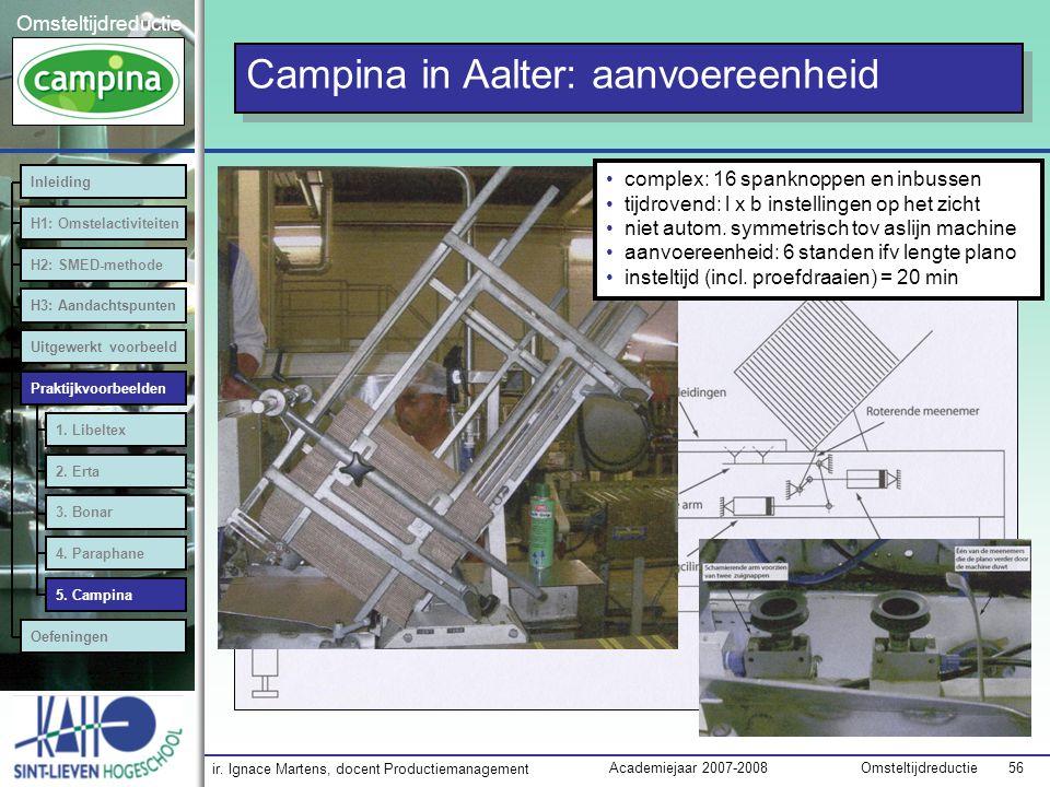 Campina in Aalter: aanvoereenheid