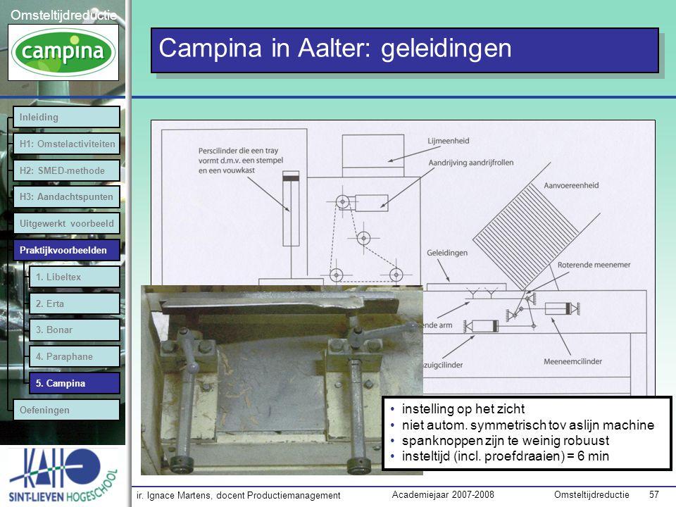Campina in Aalter: geleidingen