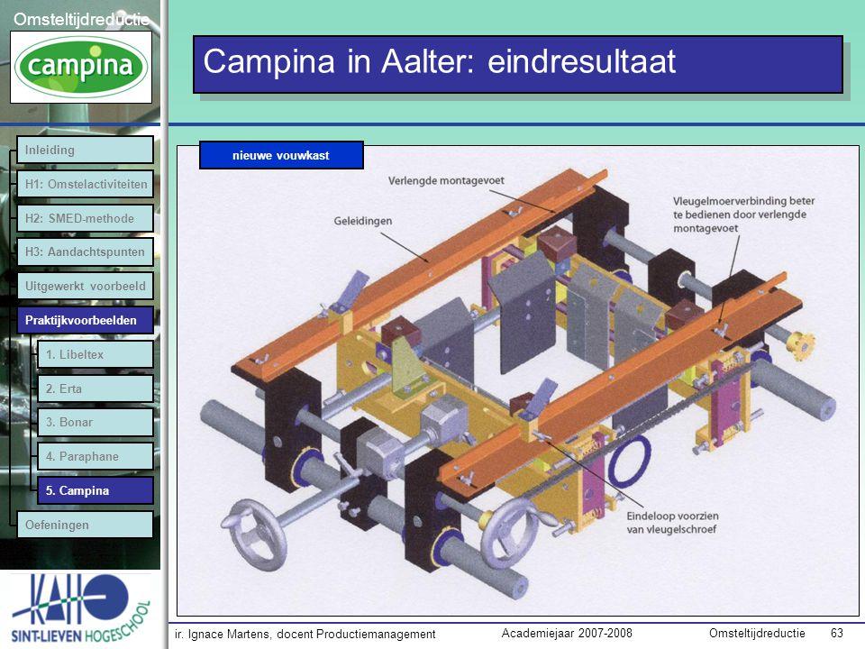 Campina in Aalter: eindresultaat
