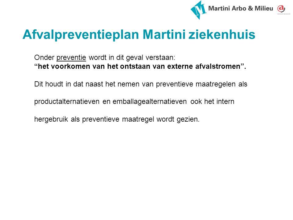 Afvalpreventieplan Martini ziekenhuis