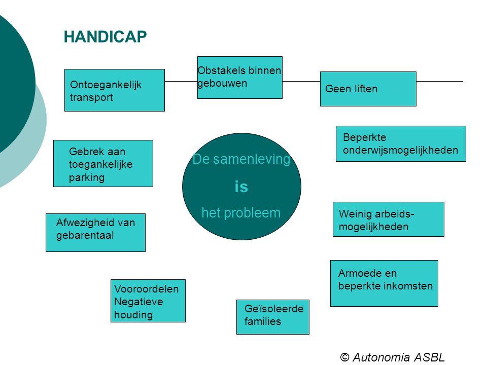 HANDICAP is De samenleving het probleem © Autonomia ASBL