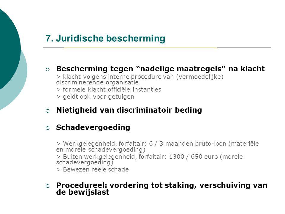 7. Juridische bescherming