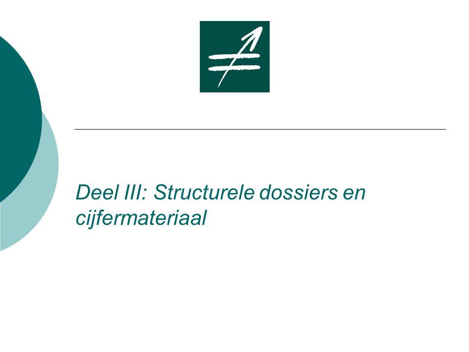 Deel III: Structurele dossiers en cijfermateriaal