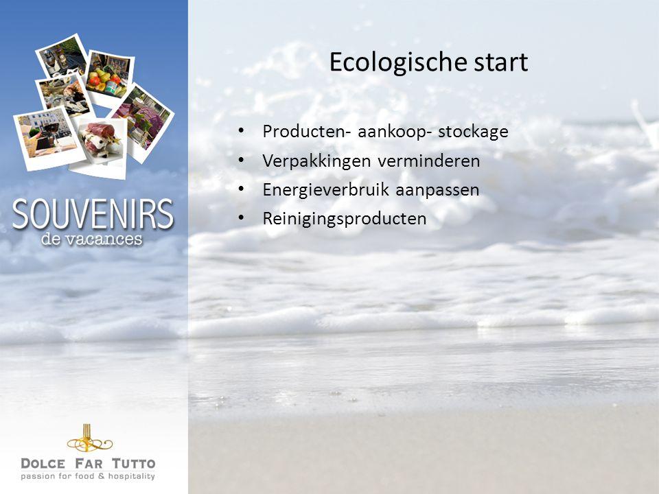 Ecologische start Producten- aankoop- stockage