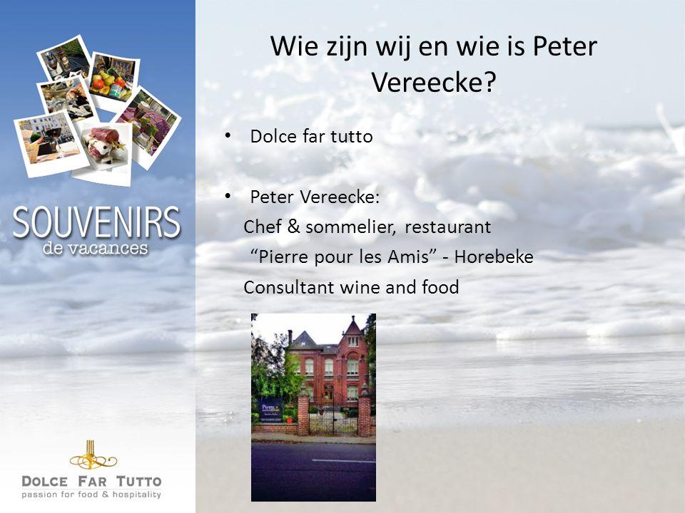 Wie zijn wij en wie is Peter Vereecke