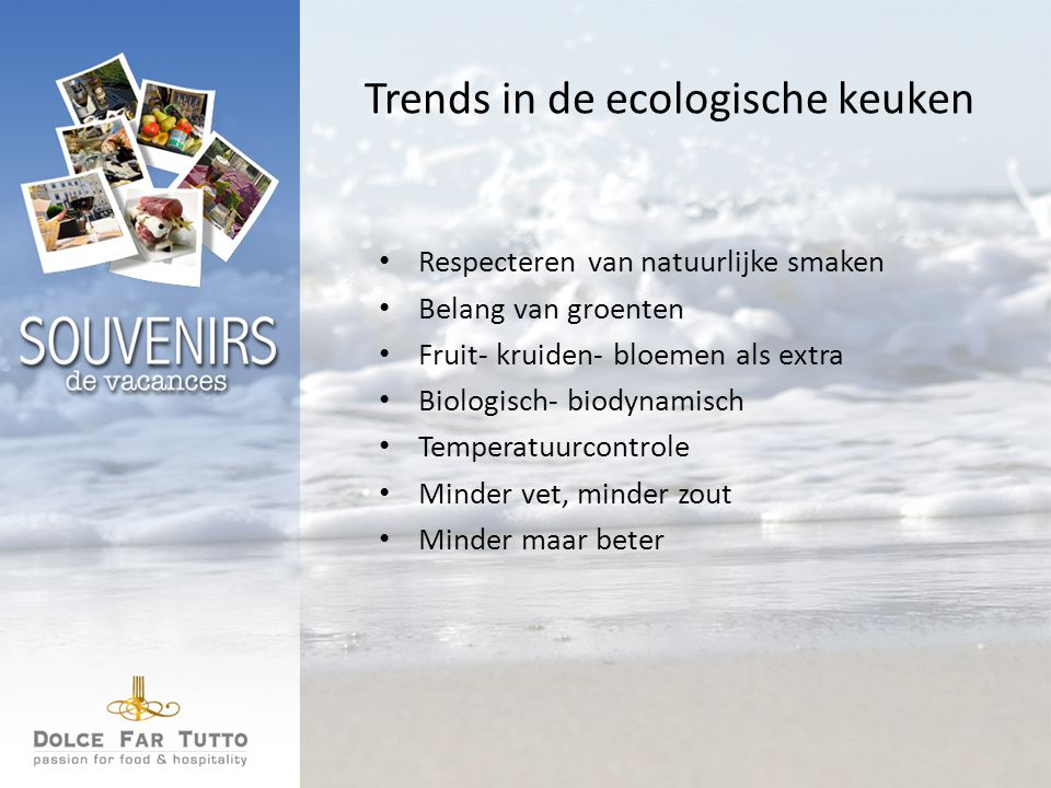 Trends in de ecologische keuken