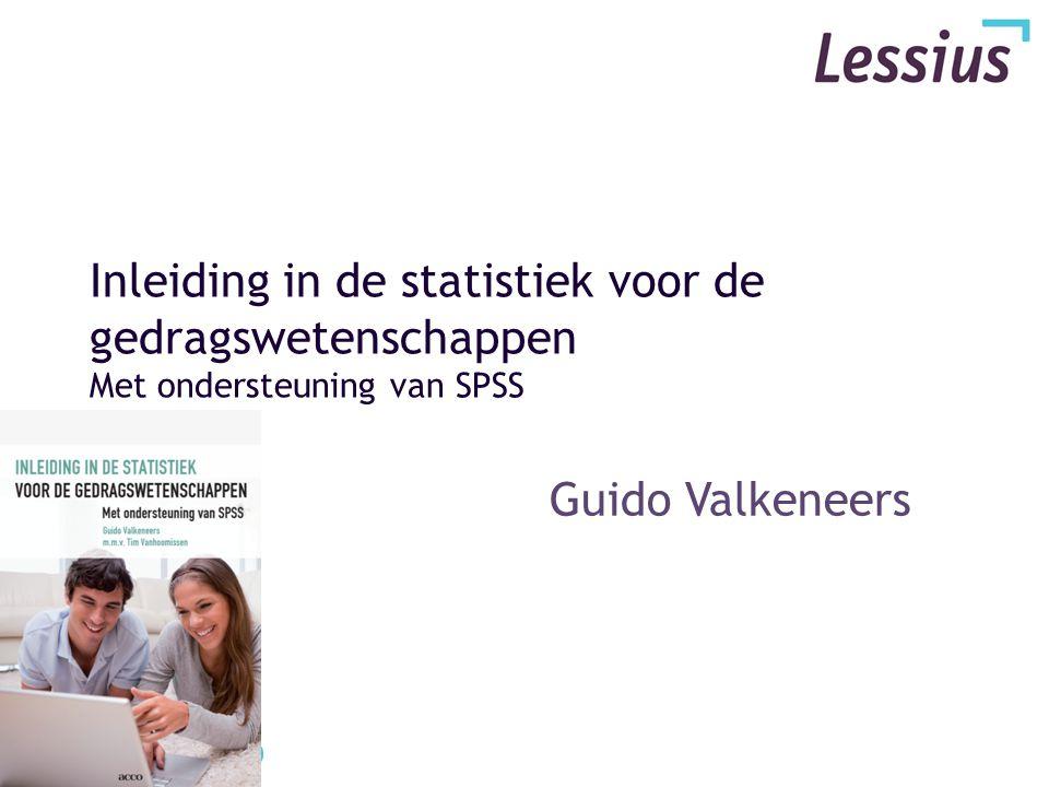 Inleiding in de statistiek voor de gedragswetenschappen Met ondersteuning van SPSS