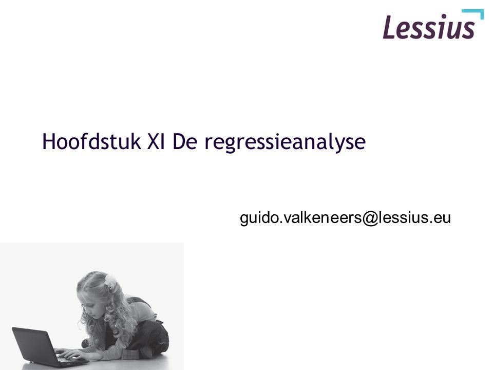 Hoofdstuk XI De regressieanalyse