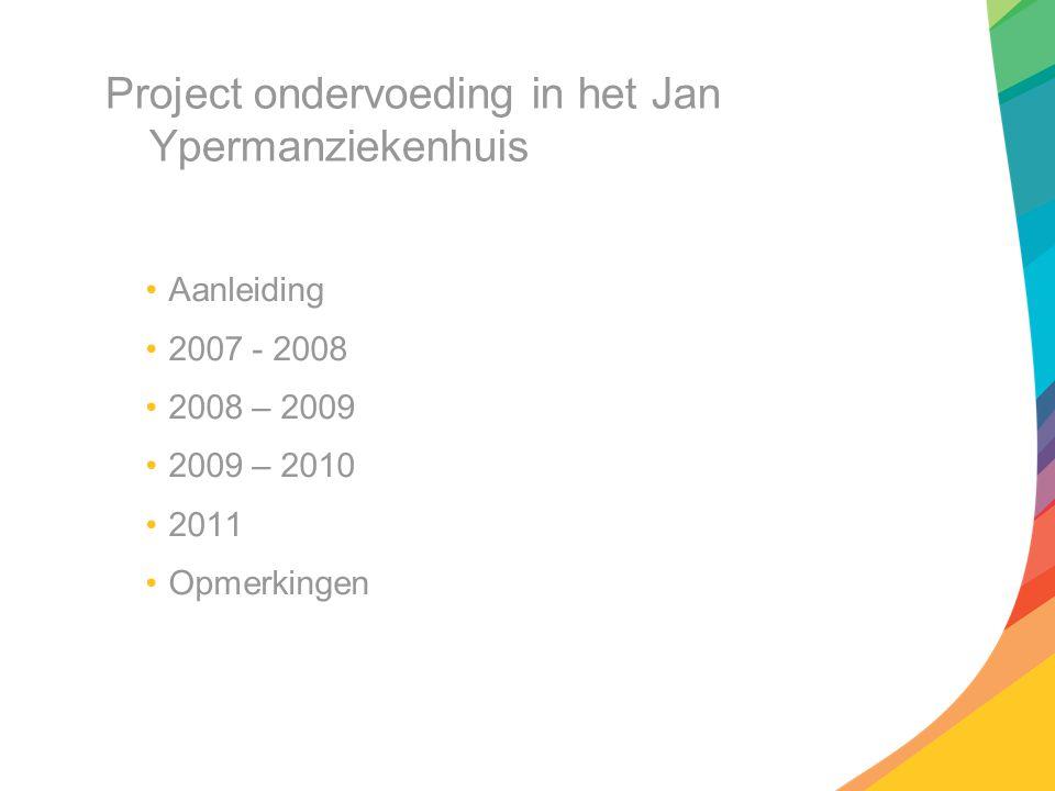 Project ondervoeding in het Jan Ypermanziekenhuis