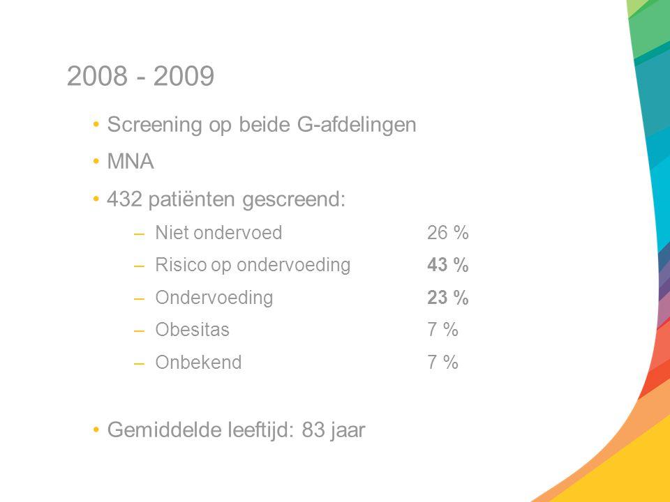 2008 - 2009 Screening op beide G-afdelingen MNA