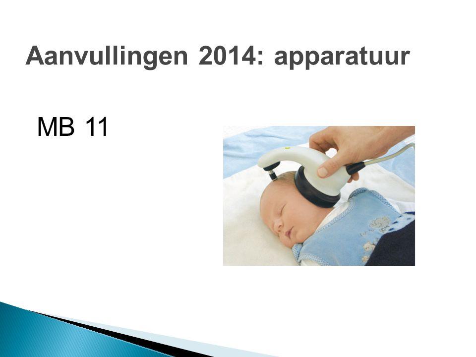 Aanvullingen 2014: apparatuur