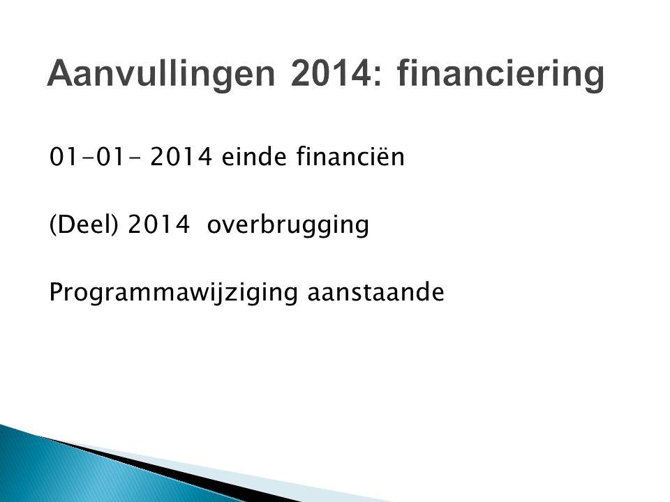 Aanvullingen 2014: financiering