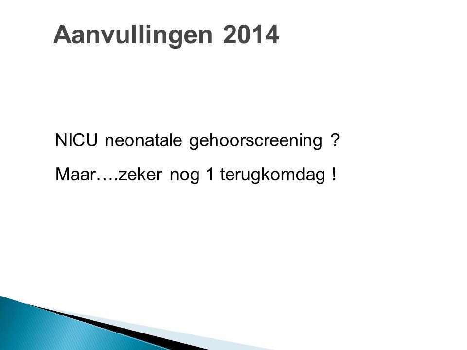 Aanvullingen 2014 NICU neonatale gehoorscreening
