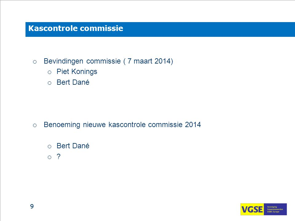 Kascontrole commissie