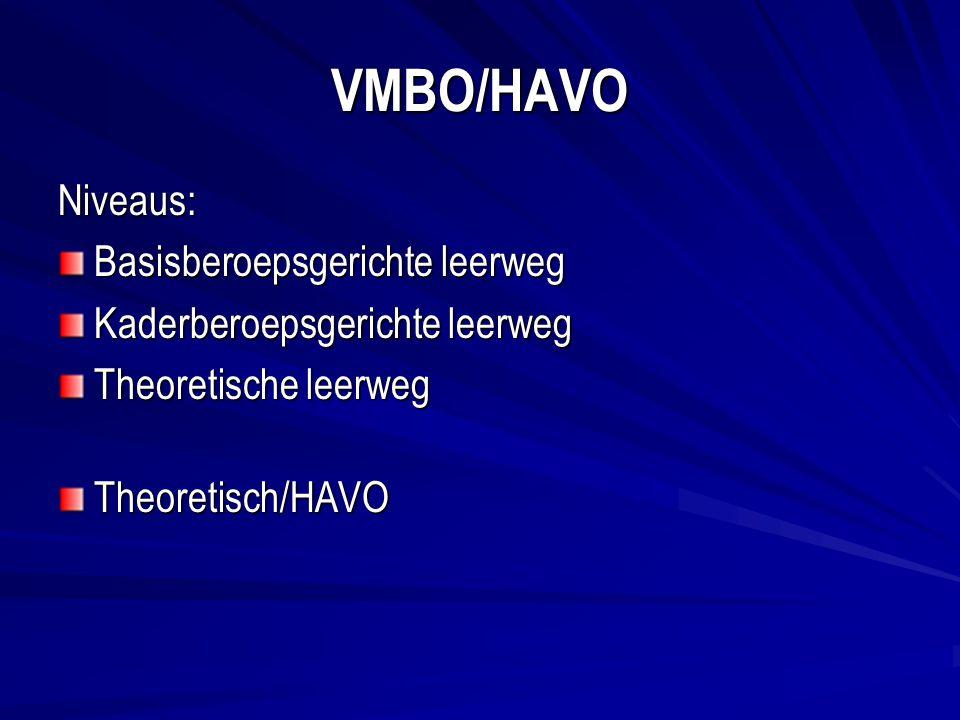 VMBO/HAVO Niveaus: Basisberoepsgerichte leerweg