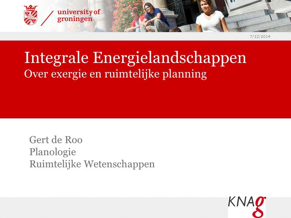 Integrale Energielandschappen Over exergie en ruimtelijke planning
