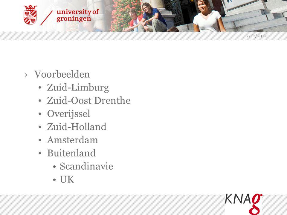 Voorbeelden Zuid-Limburg Zuid-Oost Drenthe Overijssel Zuid-Holland