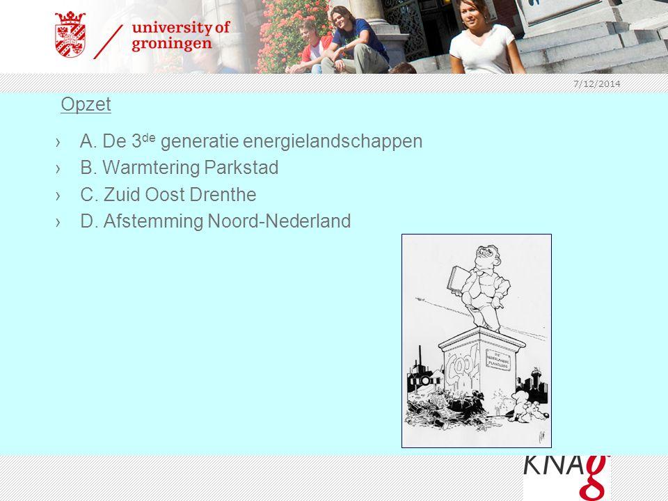 A. De 3de generatie energielandschappen B. Warmtering Parkstad