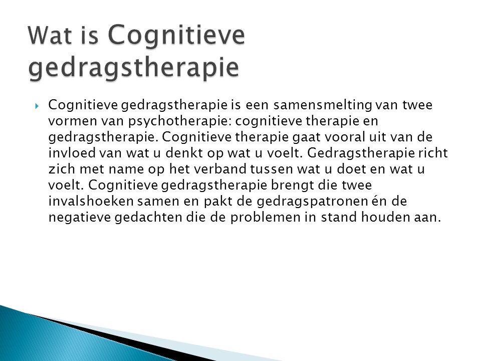 Wat is Cognitieve gedragstherapie